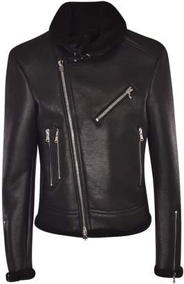 Hydrogen Fur Trimmed Biker Jacket
