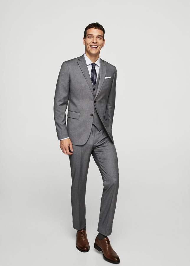 Strukturierte Slim Fit Anzughose