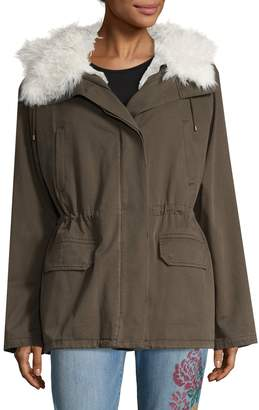 Yves Salomon Women's Shearling Trimmed Parka