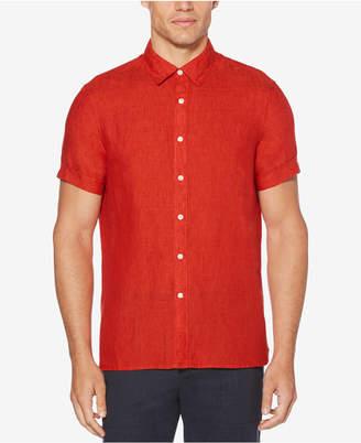 Perry Ellis Men Regular-Fit Linen Shirt