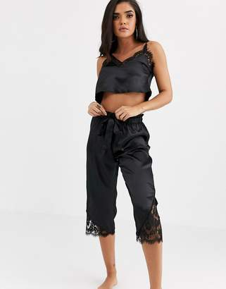 Peek & Beau Harper' satin lace cami and pants set