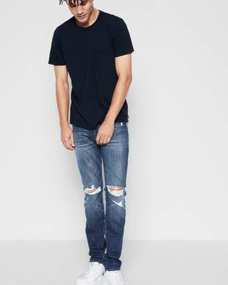7 For All Mankind Paxtyn Skinny with Clean Pocket in Indigo Blowout