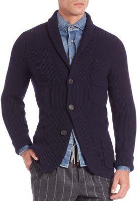 Brunello Cucinelli Woven Cashmere Cardigan $2,995 thestylecure.com
