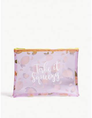 Sunnylife Ladies Purple Lemon Print Vibrant Transparent Pouch