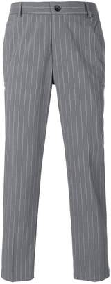 Thom Browne Chalk Stripe Cotton Suiting Unconstructed Chino Trouser
