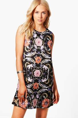 boohoo Millie Floral Print Shift Dress