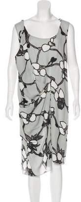 Marni Printed Asymmetrical Dress