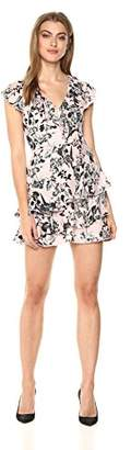 Parker Women's Dorthy Flutter Sleeve Ruffle V-Neck Dress