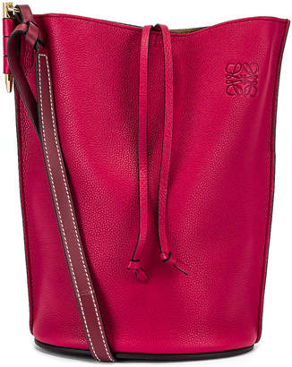 Loewe Gate Bucket Bag in Raspberry & Wine | FWRD