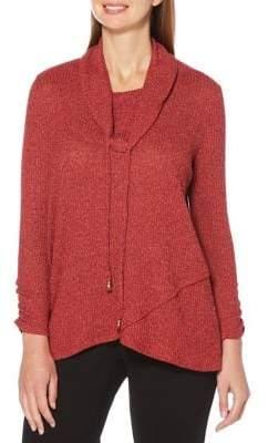 Rafaella Marled Long-Sleeve Sweater