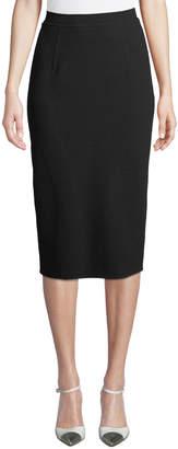 Oscar de la Renta Double-Face Stretch-Wool Pencil Skirt