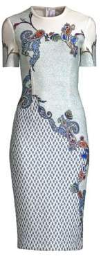 Yigal Azrouel Printed Scuba Dress