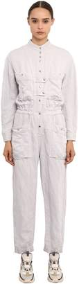 Etoile Isabel Marant Long Sleeve Washed Linen Jumpsuit