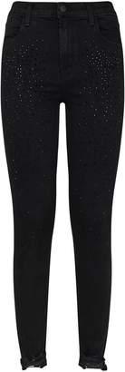 J Brand Embellished Alana High-Rise Crop Skinny Jeans