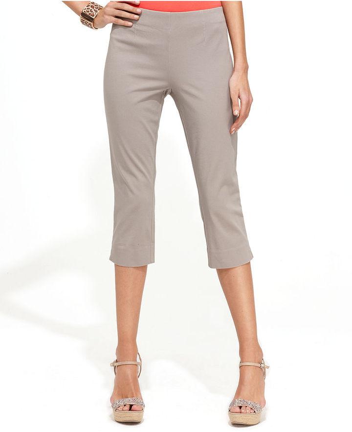 INC International Concepts Pants, Curvy-Fit Stretch Capri