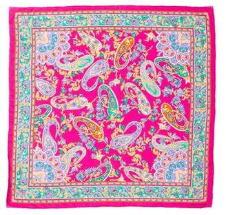Ralph Lauren Purple Label Floral Silk Scarf