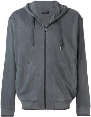 Z Zegna zipped hoodie