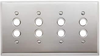 Rejuvenation Lewis Quad Push-Button Switchplate