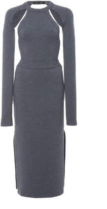 Proenza Schouler Cut Out Open Back Wool Dress
