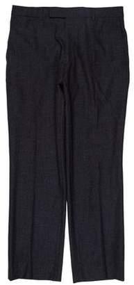 Hardy Amies Checked Virgin Wool Pants