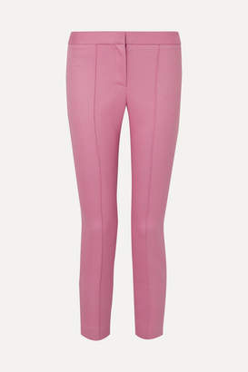 ADAM by Adam Lippes Cropped Twill Slim-leg Pants - Pink