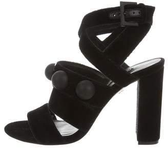 Ruthie Davis Ashlee Velvet Sandals w/ Tags