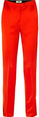 MSGM Satin Straight-leg Pants - Red