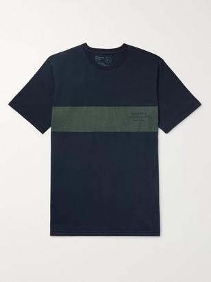 Universal Works Striped Cotton-Jersey T-Shirt - Men - Blue