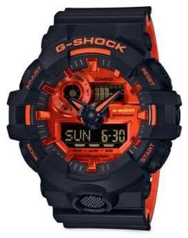 G-Shock Analog& Digital Black Resin Strap Watch
