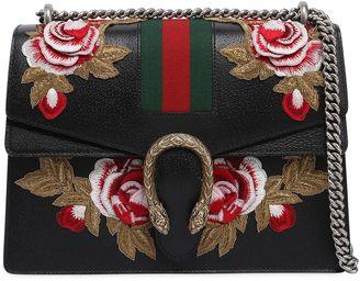 Gucci Medium Dionysus Bag W/ Flower Patches