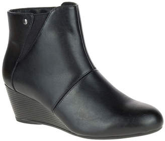 Hush Puppies Womens Poised Rhea Bootie Wedge Heel Zip