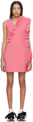 MSGM Pink Ruffles Dress