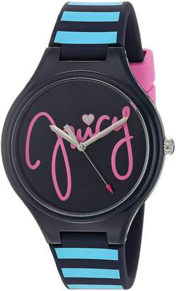 Juicy Couture Girl's 'Day Dreamer' Quartz Plastic and Silicone Casual Watch, Color: (Model: 1901567)