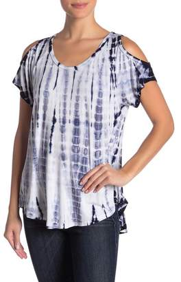 Karen Kane Tie Dye Cold Shoulder Top