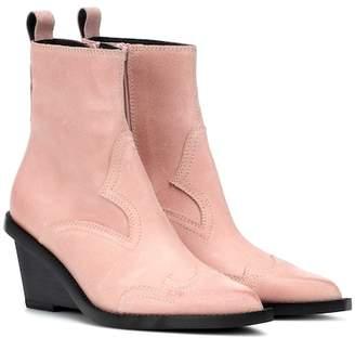 MM6 MAISON MARGIELA Suede cowboy boots