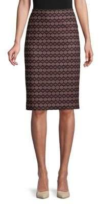 "Lord & Taylor Geo Print 27"" Pencil Skirt"