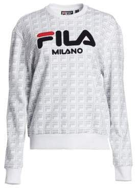 Fila Runway Milano Logo Jacquard Sweatshirt