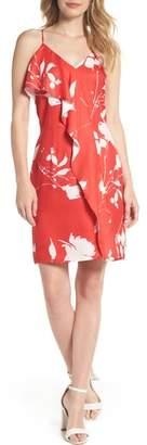 Chelsea28 Floral Ruffle Front Sheath Dress
