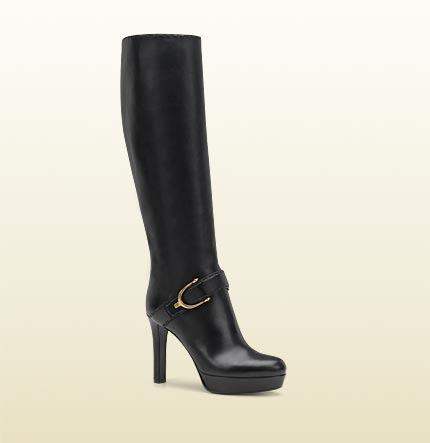 Gucci Stirrup Mid Heel Platform Boot