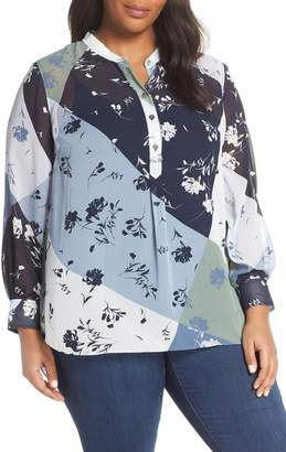 Vince Camuto Patchwork Tunic Top