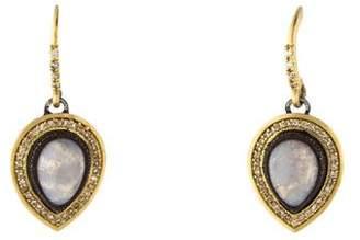Armenta Chalcedony & Diamond Old World Pear Drop Earrings