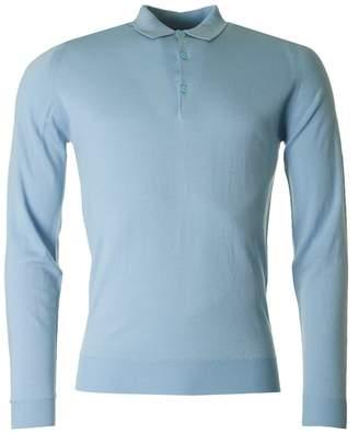 John Smedley Belper Long Sleeved Knitted Polo