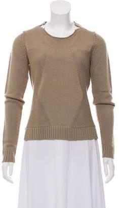 Tess Giberson Knit Wool Sweater Brown Knit Wool Sweater