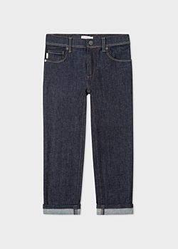 Paul Smith Boys' 8 + Years Indigo Denim Jeans With Reflective Details