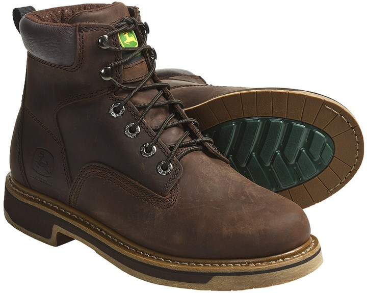 """John Deere Footwear 6"""" Work Boots - Oiled Leather, Lace-Ups (For Men)"""