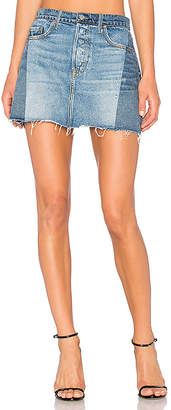 GRLFRND Claudia Denim Mini Skirt.