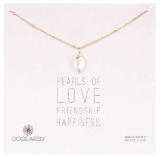 Dogeared 14K Gold Plated Sterling Silver Pearls of... Diamond Shaped 14mm Pearl Pendant Necklace