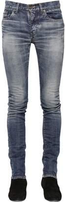 Saint Laurent 15cm Low Rise Stretch Denim Jeans