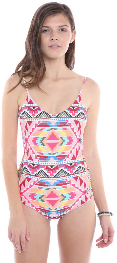 BillabongBillabong Tribe Time Lace Up One Piece Swimsuit