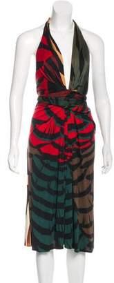 Issa Printed Halter Midi Dress
